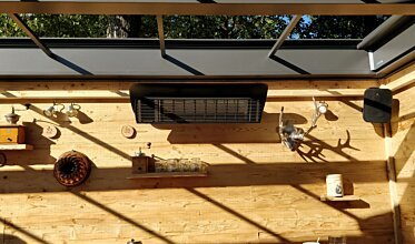 Weathershield 3 Black Accessorie - In-Situ Image by Heatscope Heaters